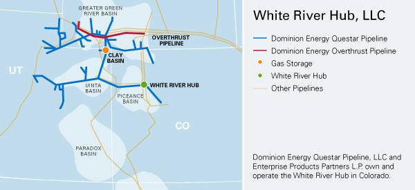 Dominion Energy Questar Pipeline, LLC  Map