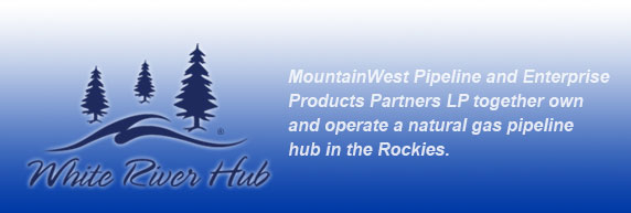 White River Hub banner: developing a new natural gas pipeline hub in the Rockies.